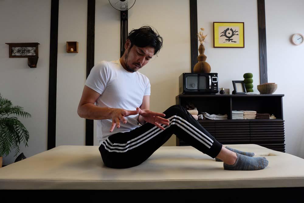 股関節のストレッチ