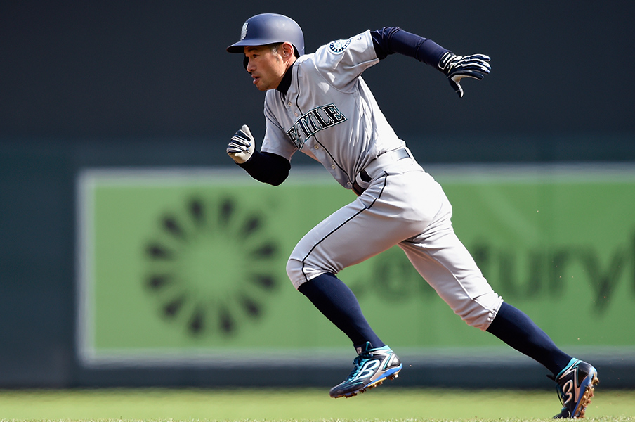姿勢の良い野球選手