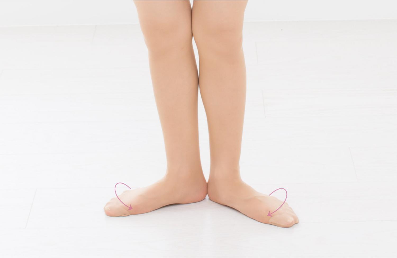 O脚矯正でターンアウトのなりがちな重心